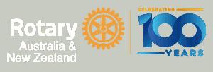 Rotary 100 logo white